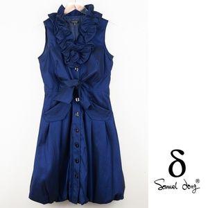 Samuel Dong Cobalt Blue Bubble Dress XS
